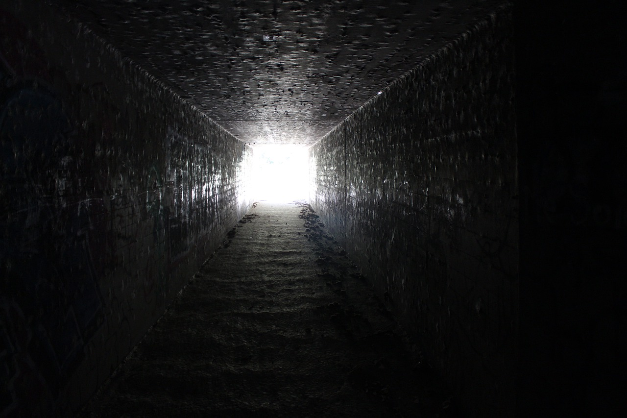 Light in at the tunnel end